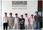 Assistant Professor Tony Quek, Jen Khai, Arnav, Ken Jen, Joseph, Jun Ye and Jason, June 2014 - National Junior College