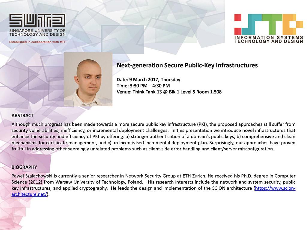 Next-generation Secure Public-Key Infrastructures (Pawel Szalachowski)